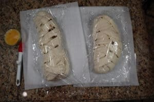 unbaked sausage bread