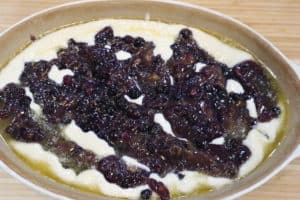 Southern style blueberry cobbler
