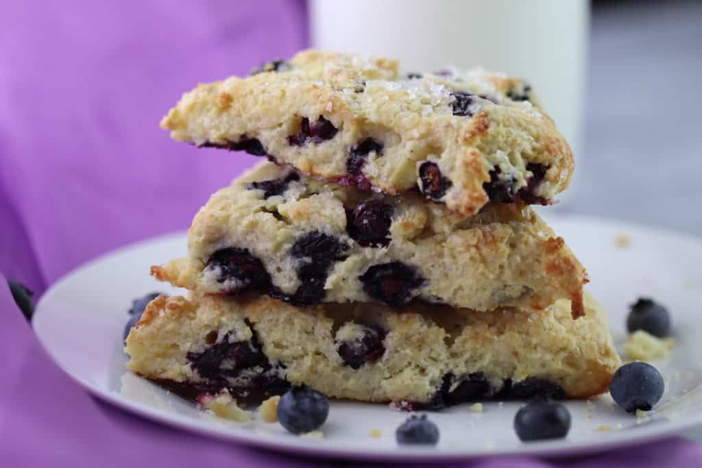 feature image for blueberry scones