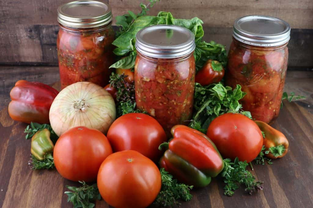 jars of stewed tomatoes