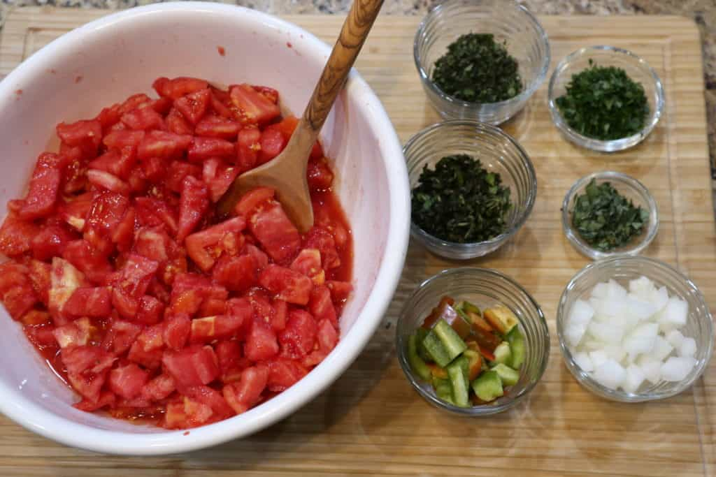 Ingredients for stewed tomatoes
