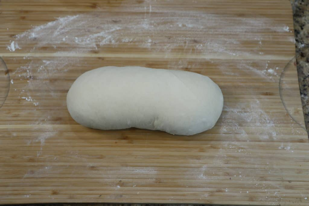 loaf of white sandwich bread dough