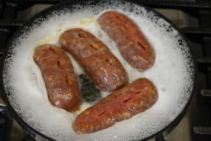 Boiling Italian Sausage