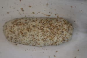 unbaked whole-grain loaf of bread