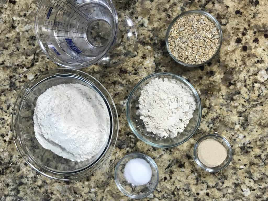 ingredients for whole grain bread