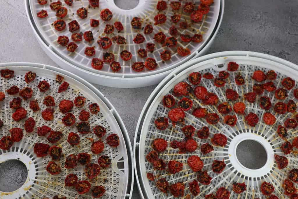 dehydrated cherry tomatoes