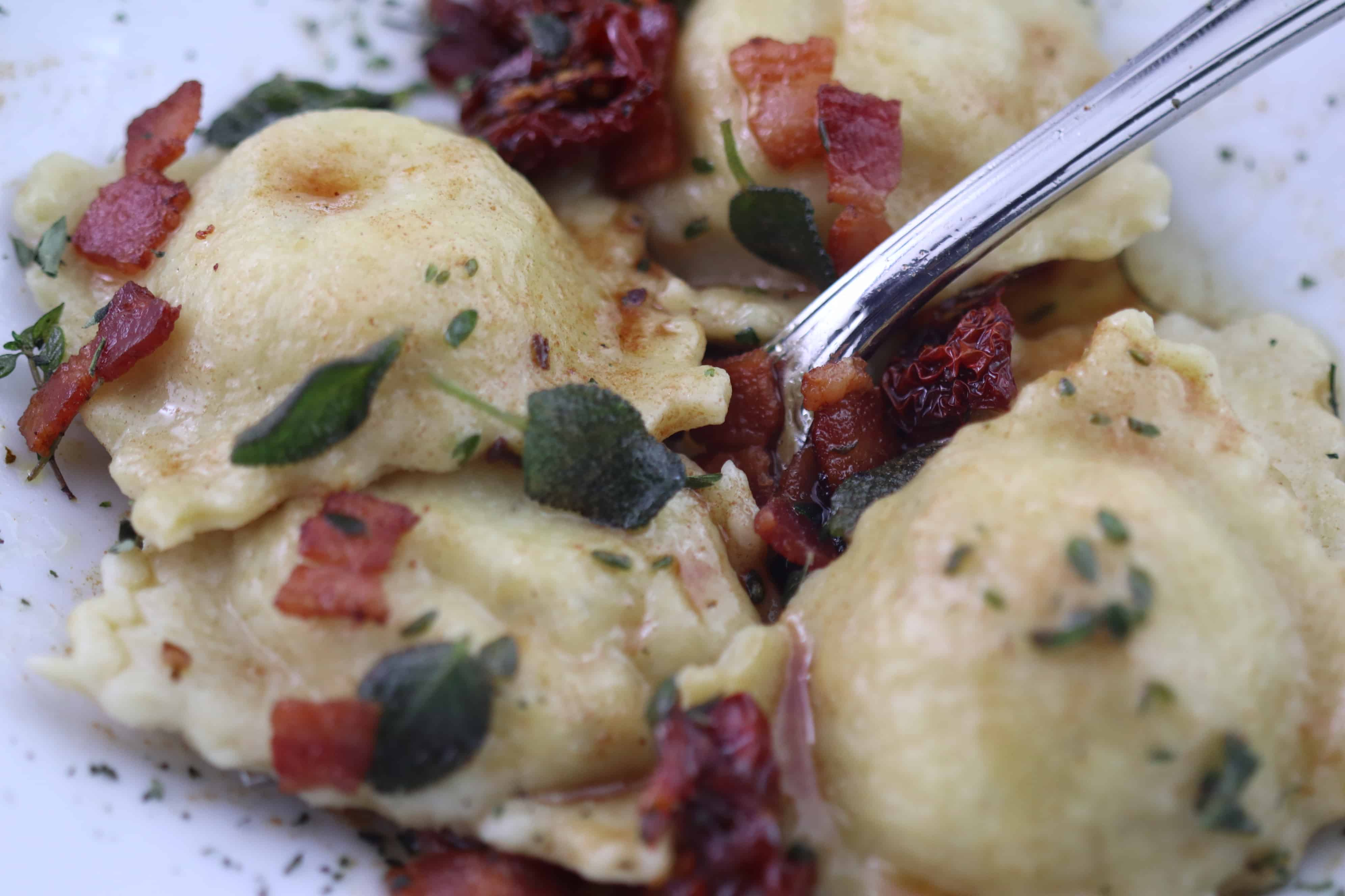 You are currently viewing Sage Roasted Butternut Squash Ravioli