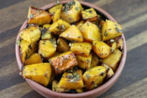 Bowl of roasted butternut squash