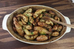 Oven Roasted Potatoes in a abaking dish