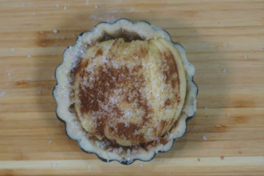 unbaked apple tartlet