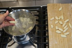 cooking the gnocchi