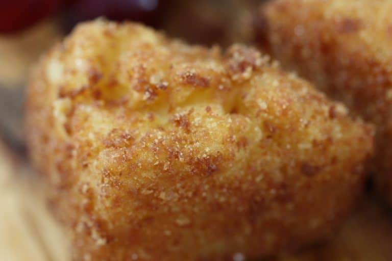 fried mac and cheese triangle