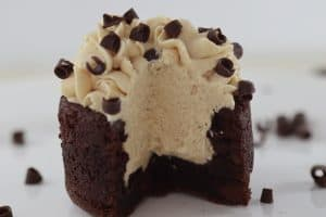 brownie - peanut butter mousse bowl