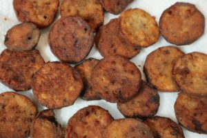 Fried Eggplant Crispy Coins