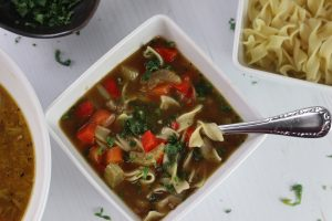 Vegan Vegetable Noodle Soup