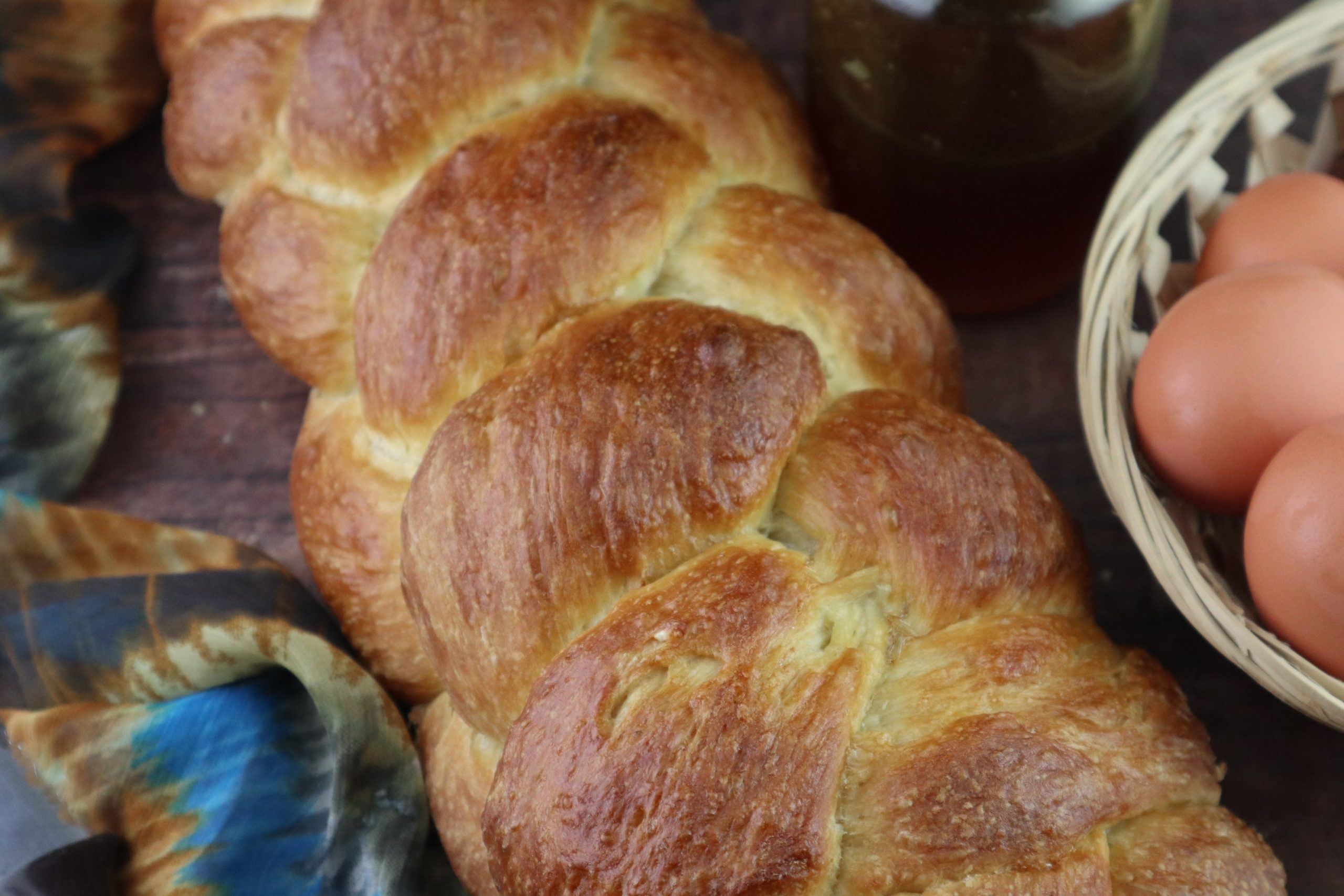 No-Knead Challah Bread- Easy