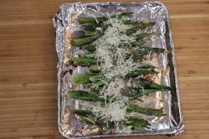 cheesy roasted hosta shoots