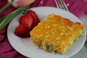 Artichoke and Sausage Egg Bake – Vegetarian