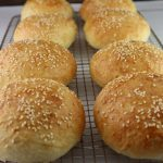 Sesame Hamburger Rolls with Video