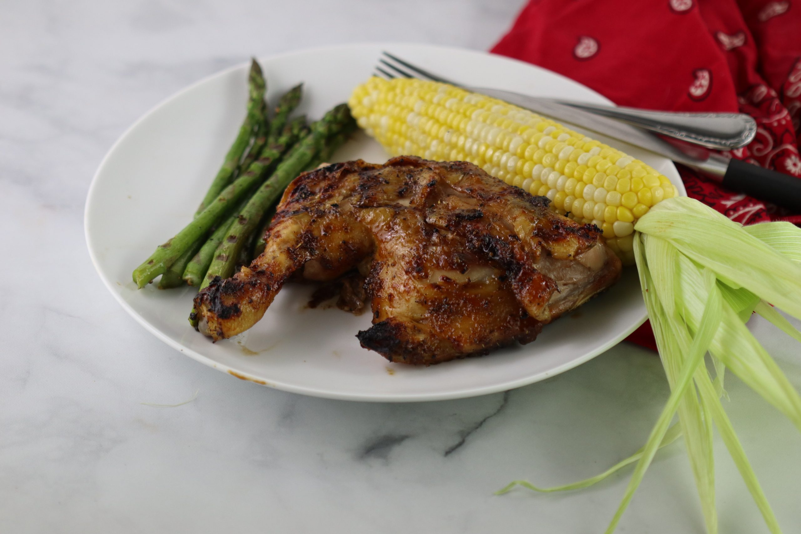 BBQ chicken on a plate
