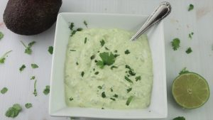 Avocado Crema For Mexican Dishes