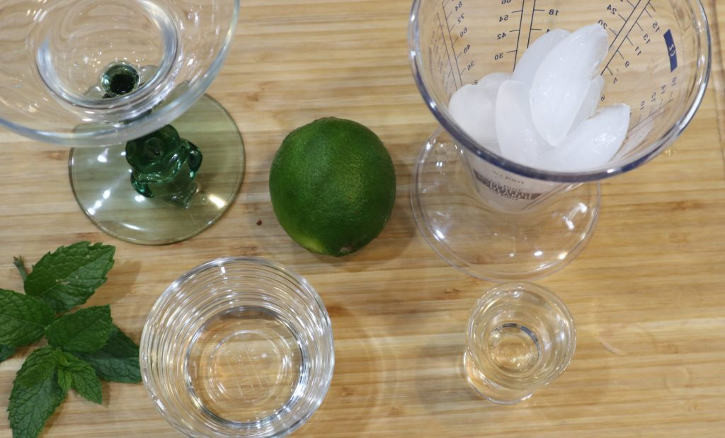 ingredients for frozen mojitos