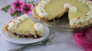 Banana Cream Pie with a Chocolate Layer.