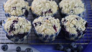 Blueberry Zucchini Muffins with Lemon Streusel