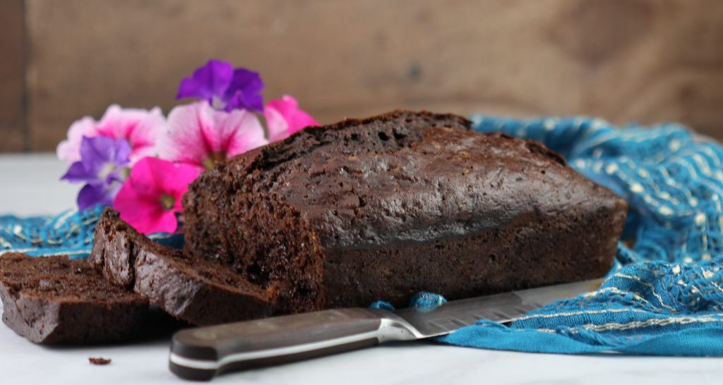 zucchini bread with double chocolate