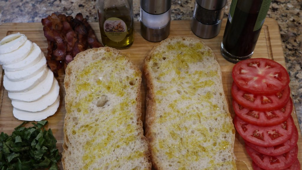 panini bread with olive oil
