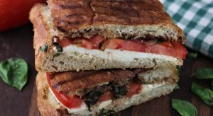 Caprese Panini with Homemade Panini Bread