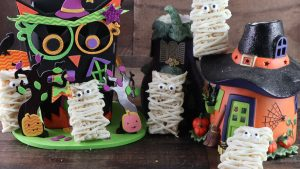 Krispie Mummie Treats for Halloween