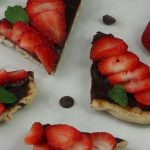 Strawberries and Chocolate Hummus Naan