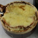 French Onion Soup with Homemade Stock.