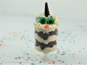 Monster Parfaits -Brownie & Peanut Butter Mousse