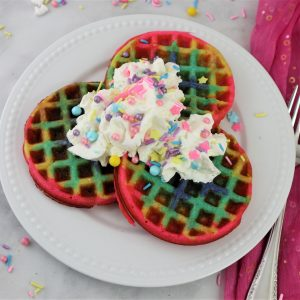 Rainbow Waffles – Homemade Easy
