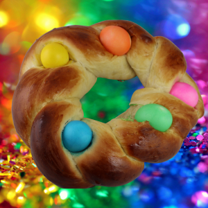 Easter Egg Braid – With Hawaiian Bread