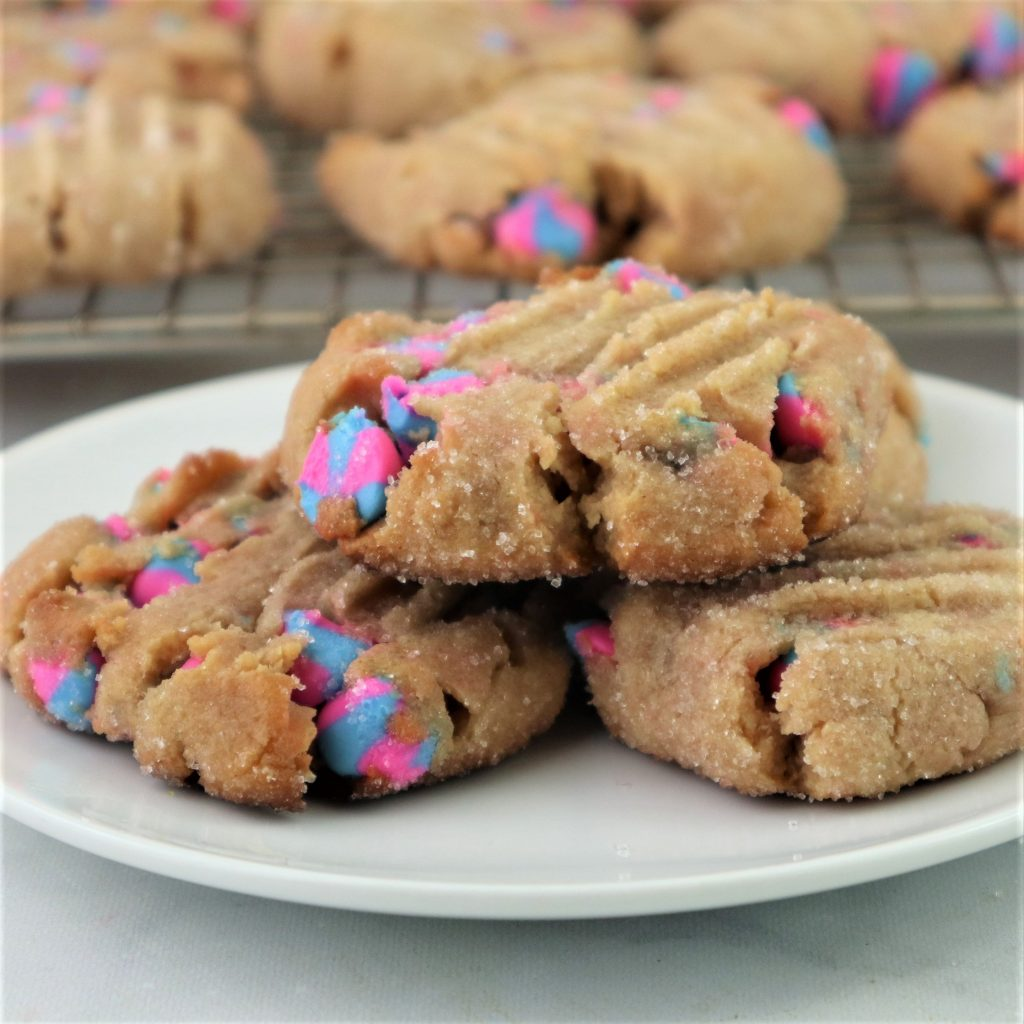 unicorn chip cookies with peanut butter