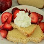 Pound Cake with Lemon Streusel and Strawberries